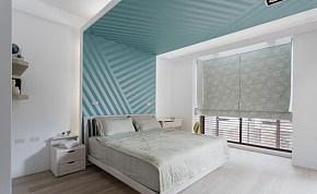 91平清新简约卧室背景墙效果图