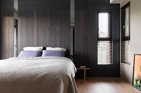 现代时尚都市卧室背景墙效果图