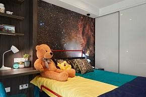 102平时尚混搭儿童房卧室背景墙图