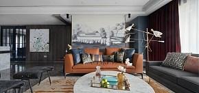 102平时尚混搭客厅背景墙图