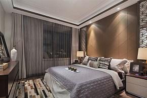 新中式风格设计卧室背景墙效果图
