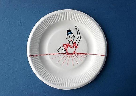 手工diy:一次性纸盘手工制作弗朗明哥舞者