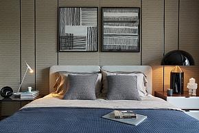 91平现代简约风卧室背景墙效果图