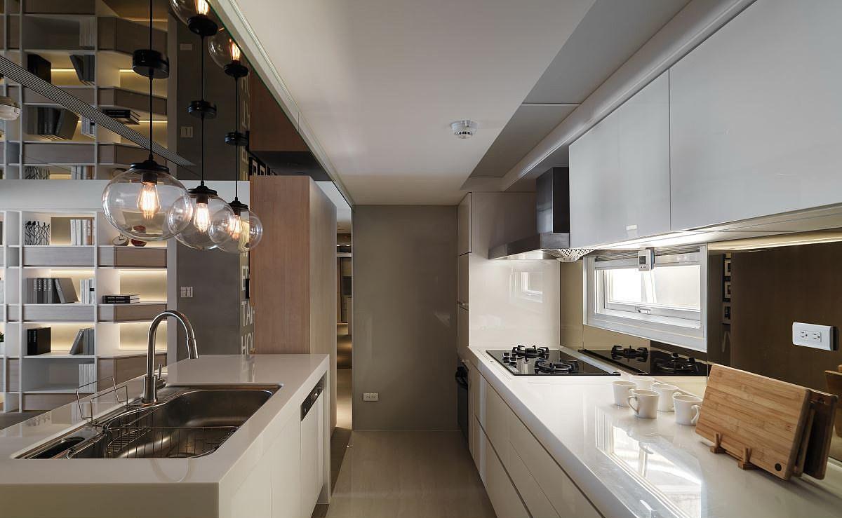 102平北欧风格厨房效果图