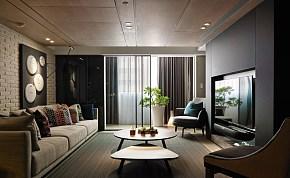 102平北欧风格客厅背景墙图