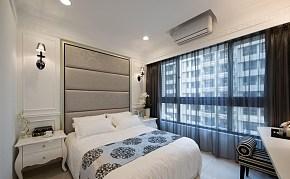 小户型简欧单身公寓卧室背景墙图