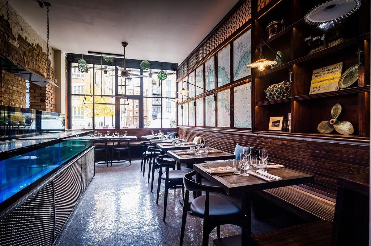 英国裸露体村_英国伦敦海鲜餐厅效果图