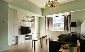 89平现代温馨客厅背景墙设计