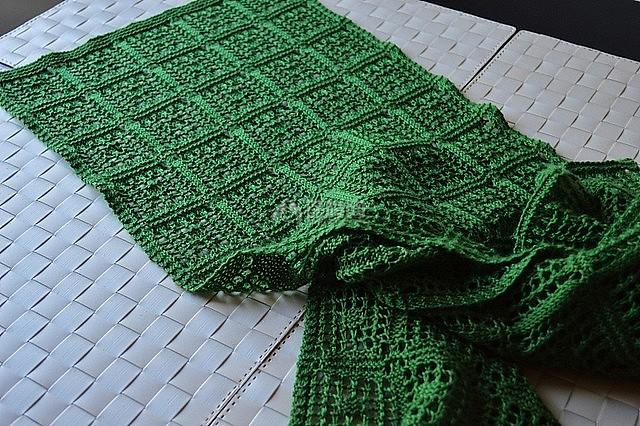 图解 镂空/镂空围巾的织法图解