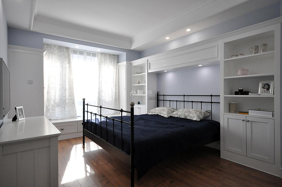清新丽家三室一厅主卧效果图
