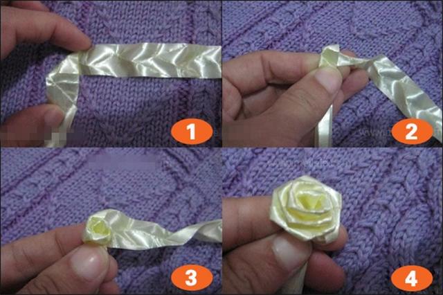 婚车彩带花的折法步骤图_彩带玫瑰花的折法_彩带玫瑰花的折法图解 - 装修保障网