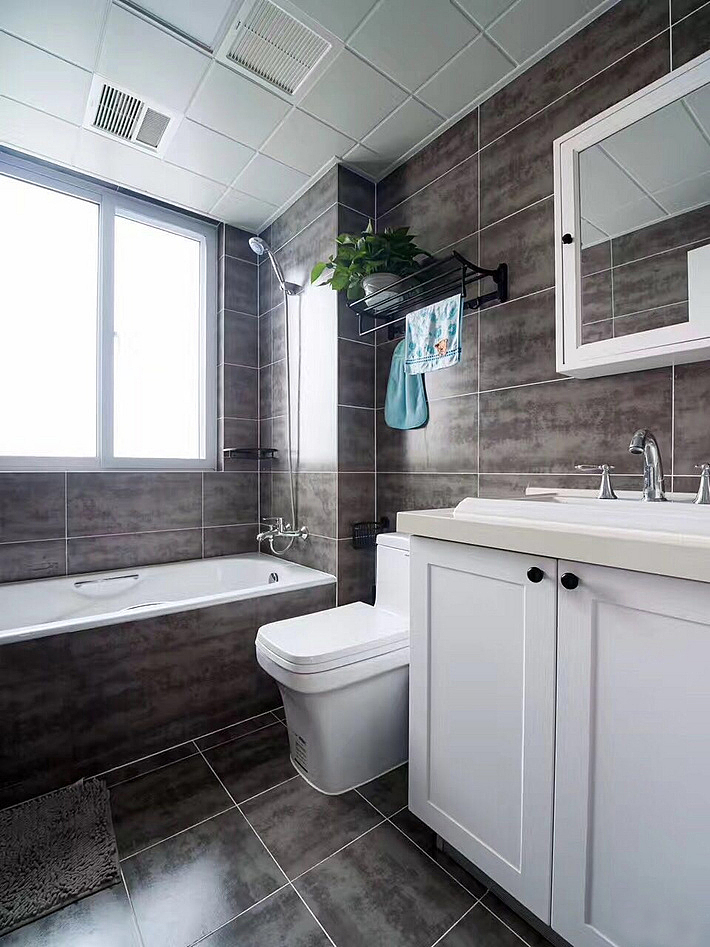 135平三室两厅北欧简美风装修——卫生间