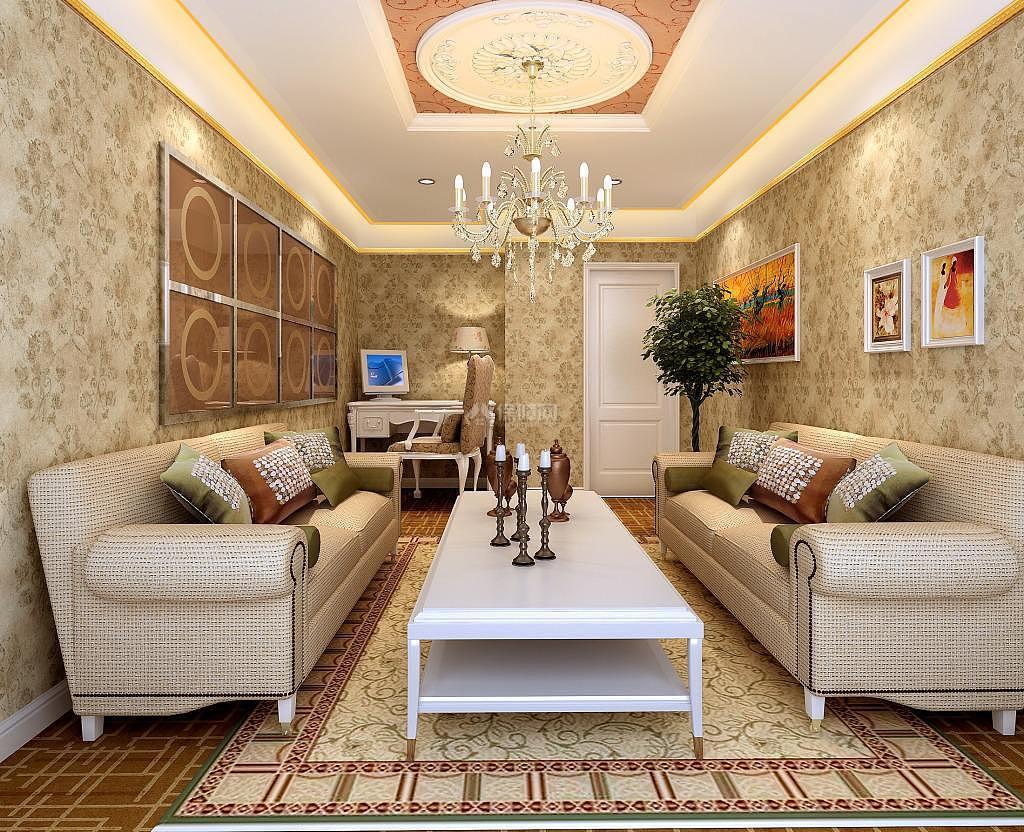 客厅贴什么颜色的壁纸好看