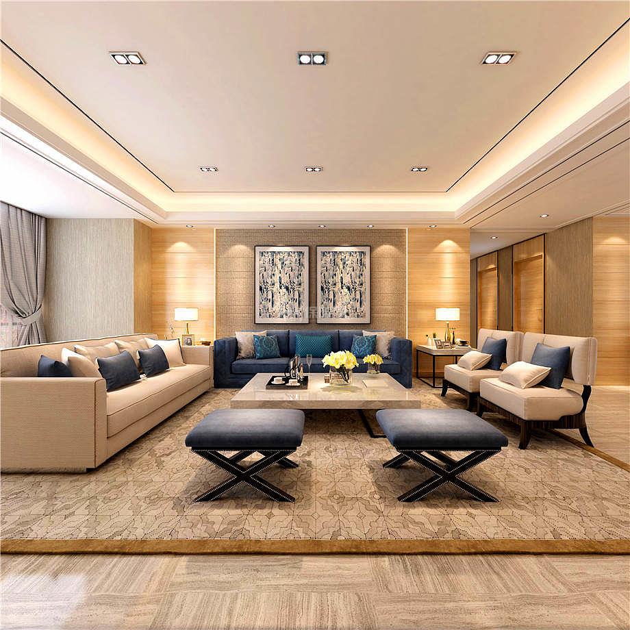 108㎡时尚简约两居之沙发摆放效果赏析