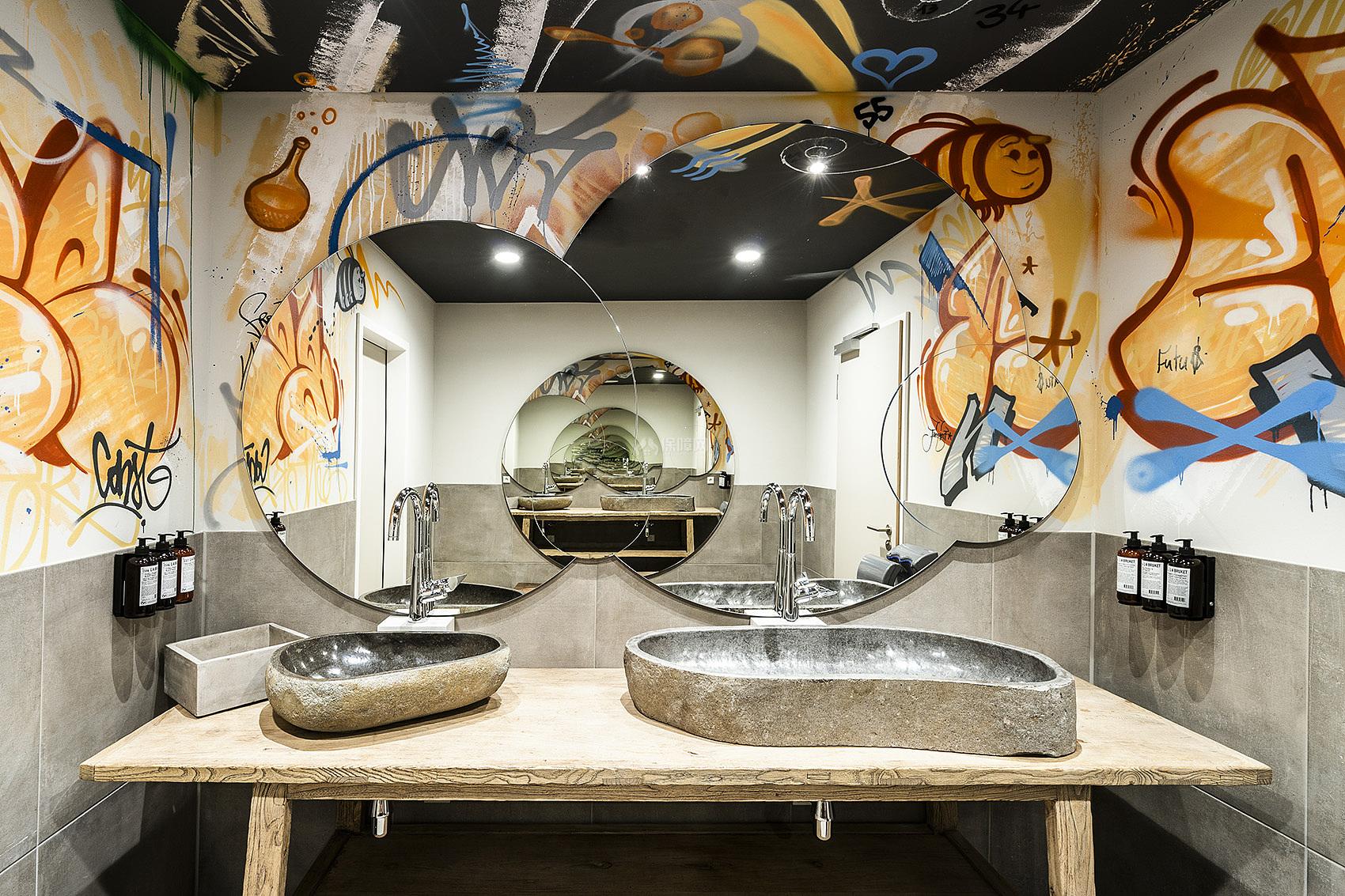 哥廷根Freigeist酒店之墙面涂鸦效果图