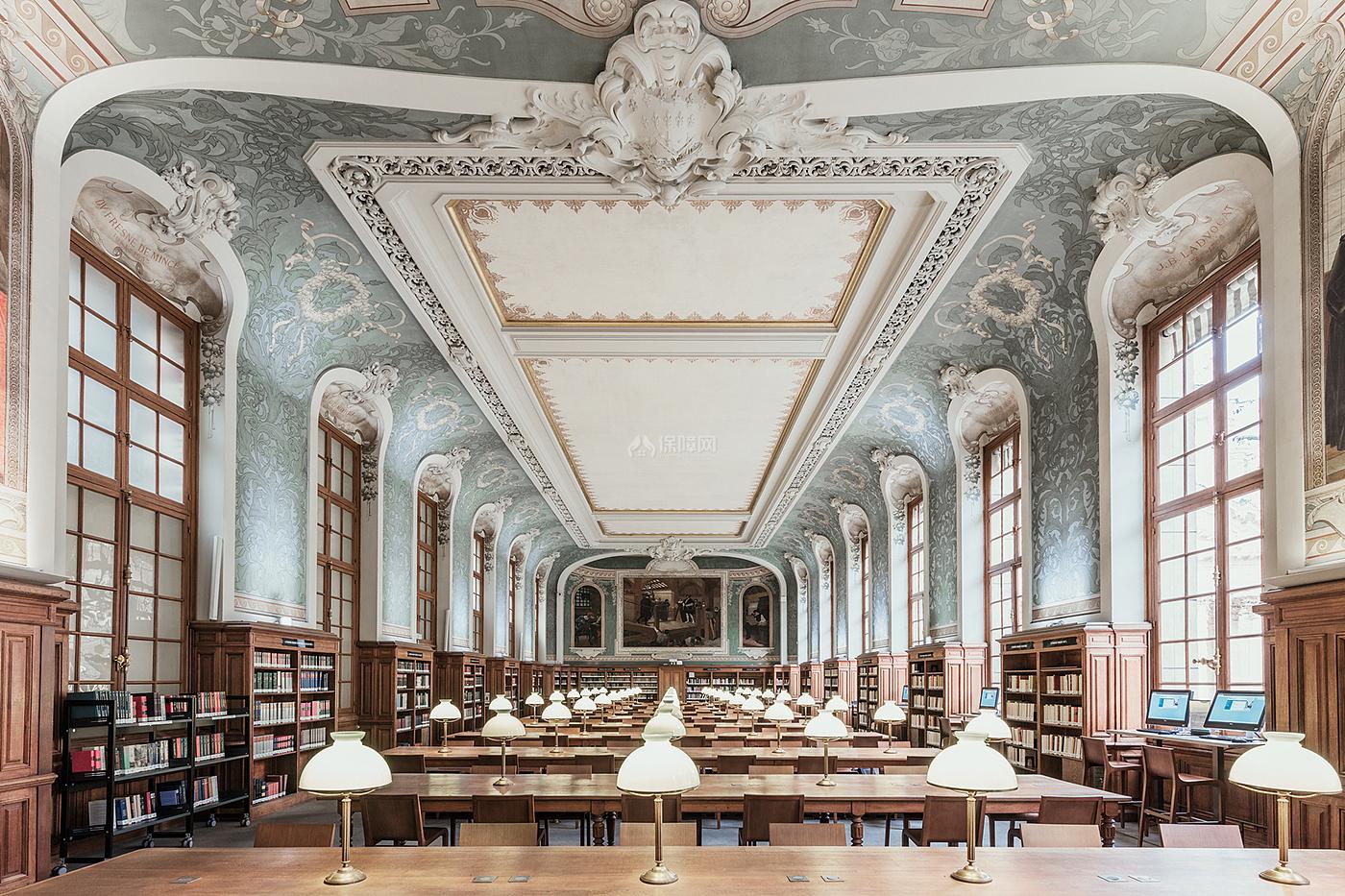 阶梯教室文化场馆之阅读区装修设计效果图