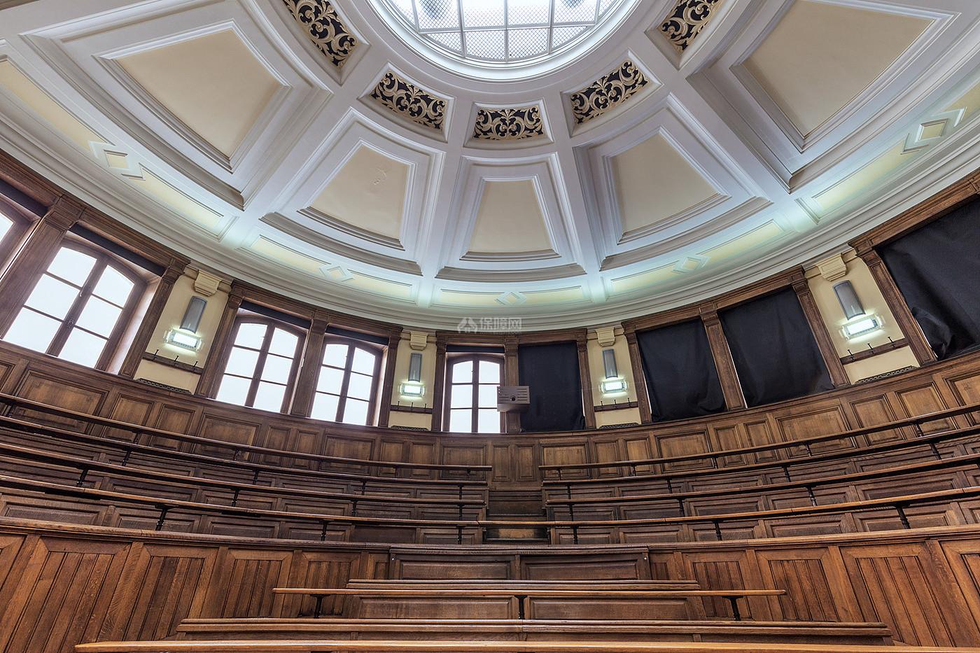 阶梯教室文化场馆之创意吊顶设计效果图