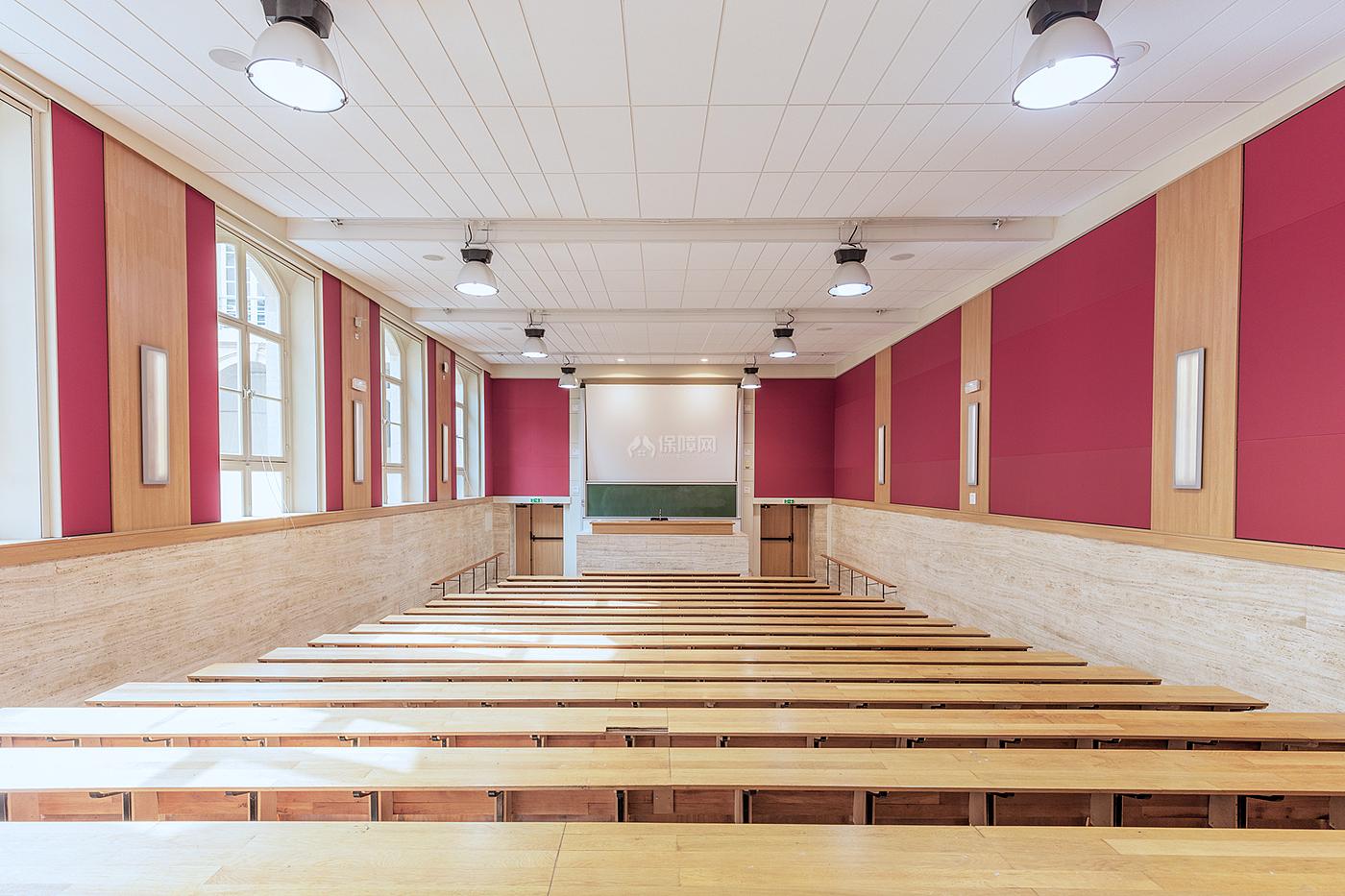 阶梯教室文化场馆之两边墙面装饰效果图