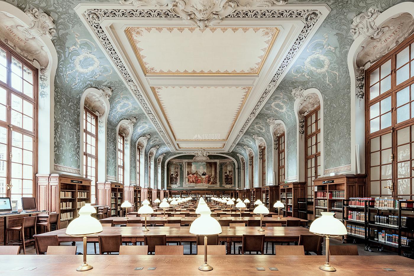 阶梯教室文化场馆之阅读区全景效果图
