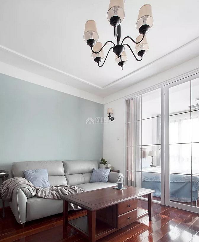 120㎡简美风复式之二楼客厅布置效果图
