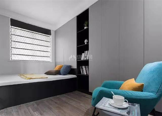 84㎡现代简约两居之次卧装修布置效果图