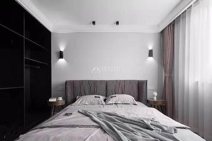 84㎡现代简约两居之卧室软装效果图