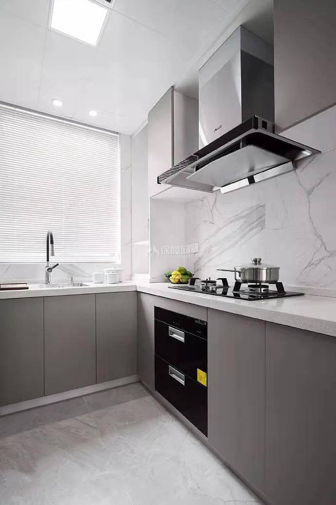 84㎡现代简约两居之厨房装修布置效果图