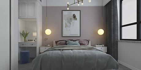 110㎡北欧三居装潢设计案例
