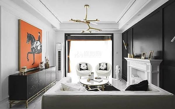 后现代美式复式楼装修 黑白配色品质之选
