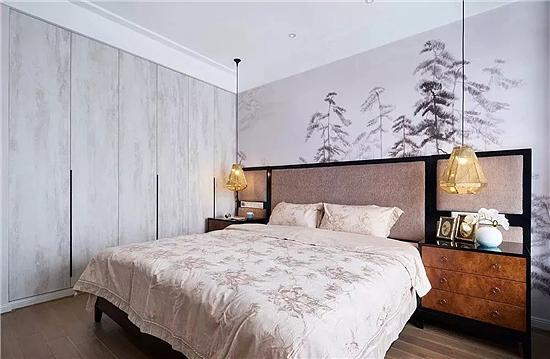 卧室背景墙壁纸装修 瞬间提高卧室装饰档次