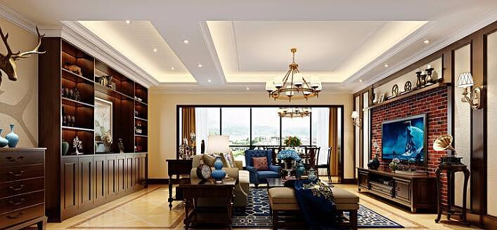 150平的休闲美式装修案例 温馨悠闲的家