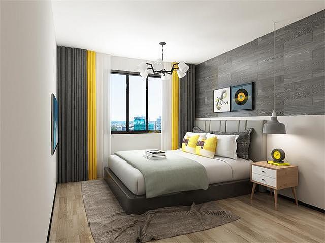 现代简约卧室装修效果图案例 总有你喜欢的一款
