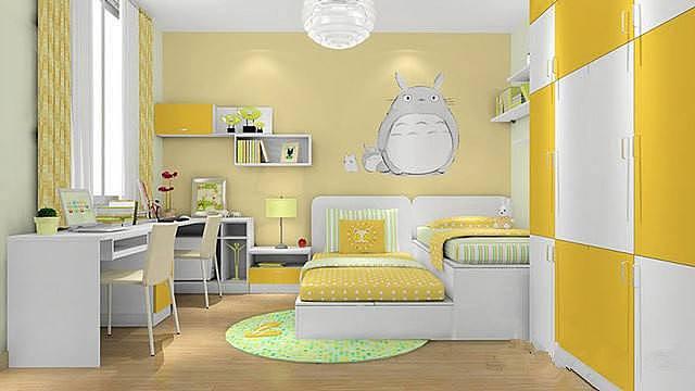 儿童房装修 一套家具就够了 不信你来看看