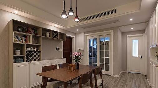 129平简约风格装修 客餐厅一体式设计宽敞明亮