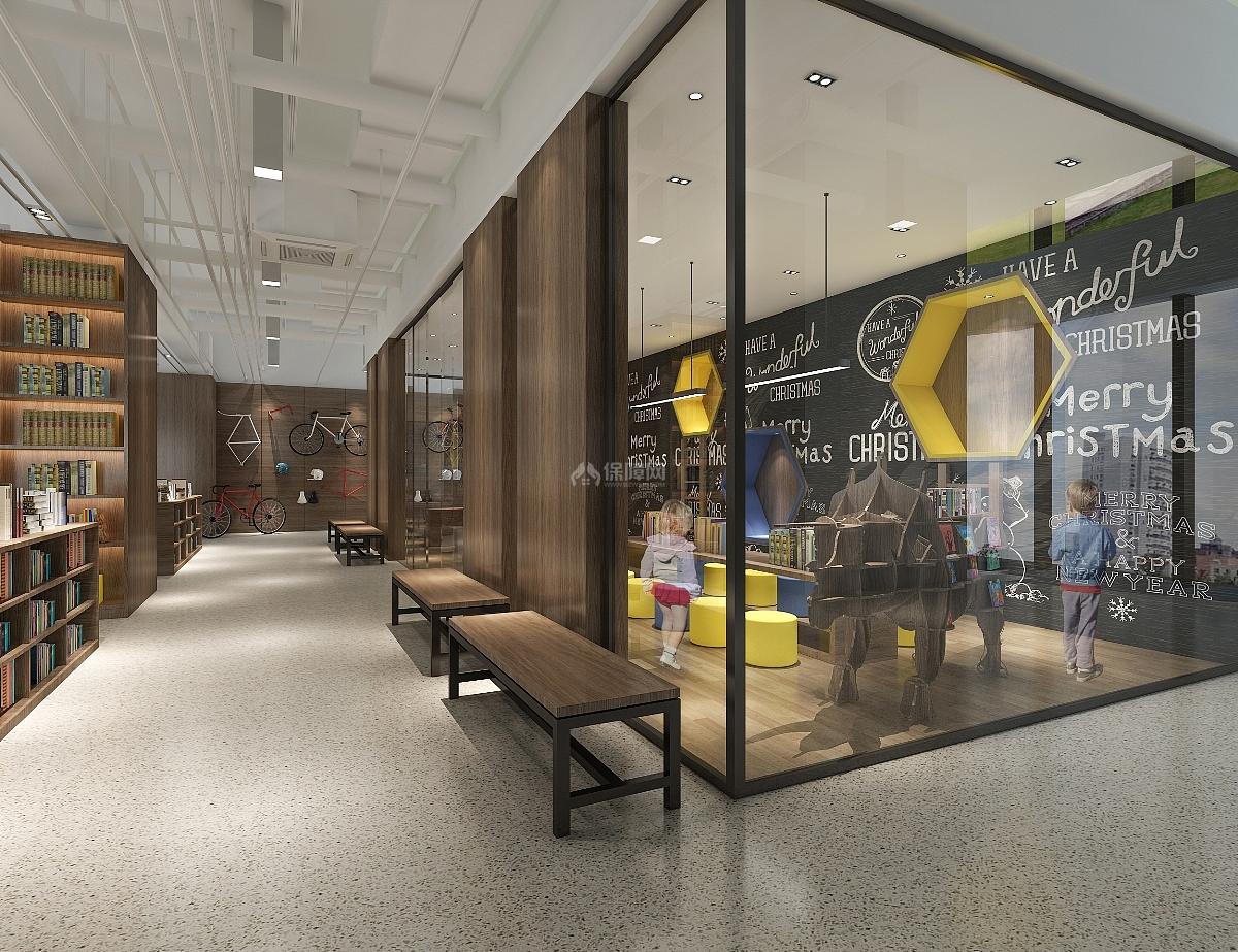 休闲书吧咖啡屋之玻璃隔断设计效果图