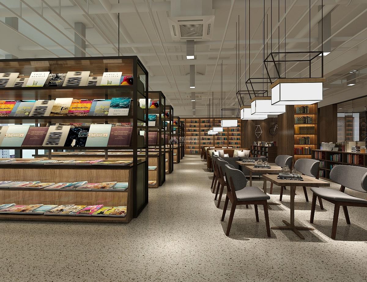 休闲书吧咖啡屋之阅读区设计布置效果图