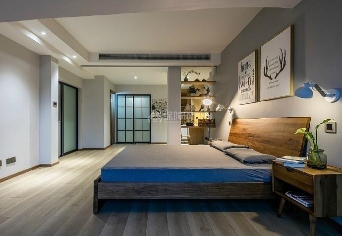 103㎡混搭两居之主卧装潢布置效果图
