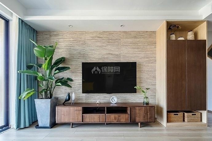 103㎡混搭两居之电视墙装潢设计效果图
