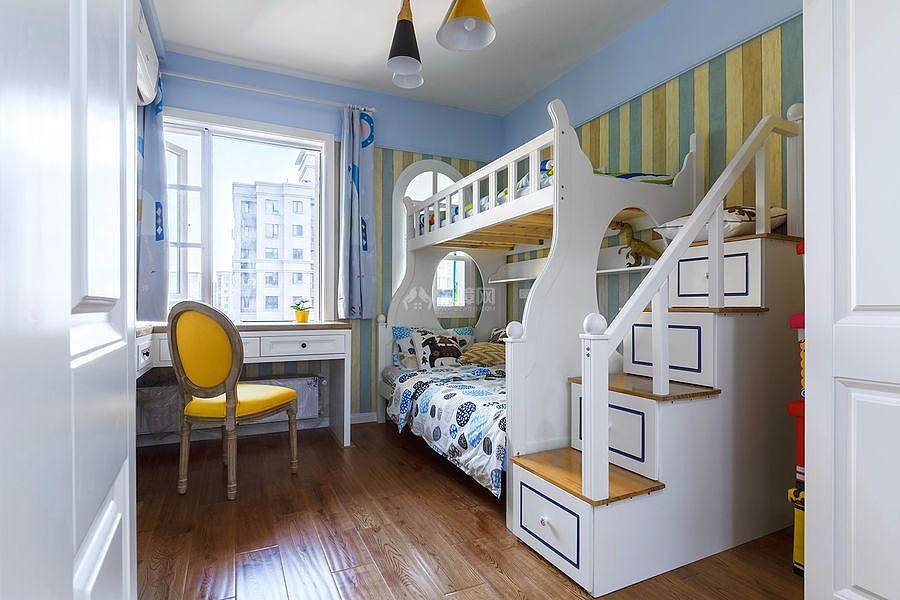 126㎡北欧风三居之儿童房装修布置效果图