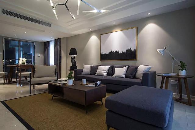 新房现代简约风格家装 设计师采用高级灰来装饰