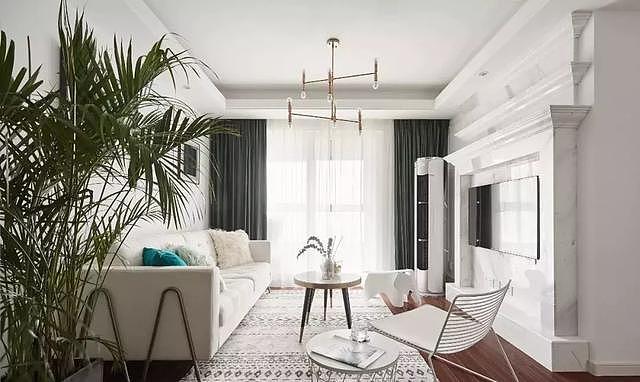 103㎡北欧风三居室装修设计 打造一个优雅大方的家