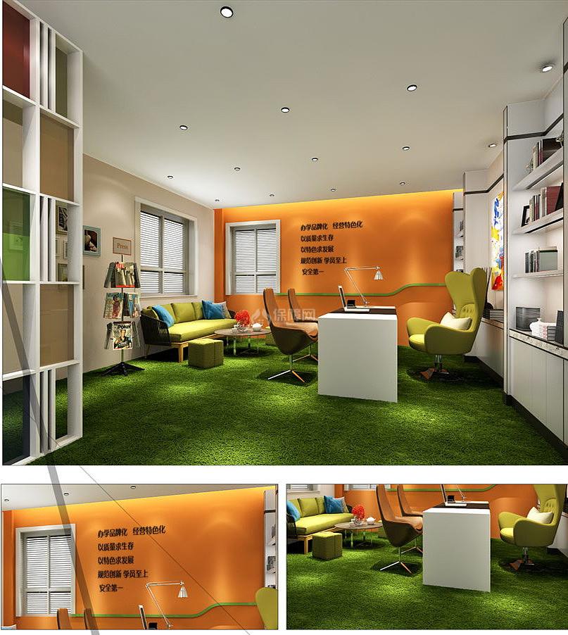 红叶艺术幼儿园之园长办公室装修效果赏析