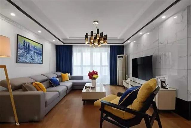 130平简约三居室婚房简装不输精装