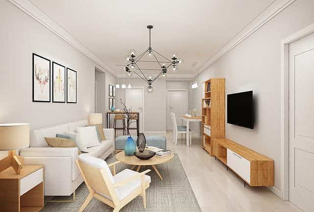 89㎡房屋装修改造设计 打造清新北欧风格的家
