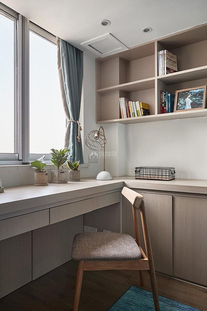 106㎡北欧两居之书房装修设计效果图