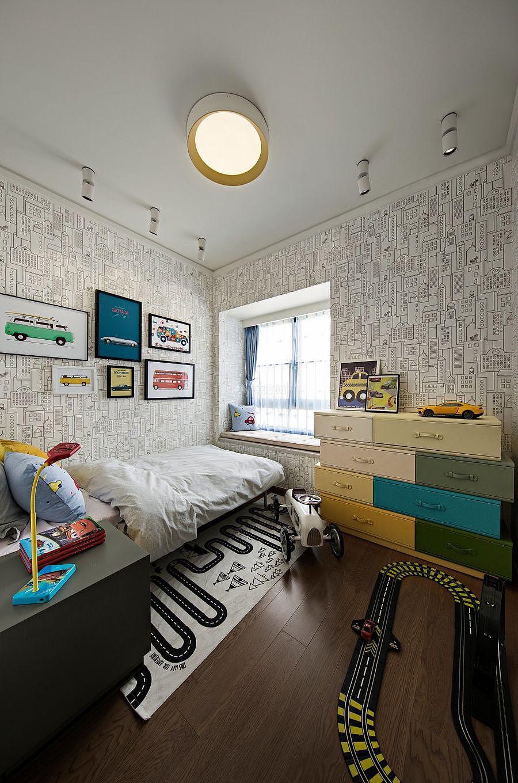 147㎡优雅简约三居之儿童房装潢布置效果图