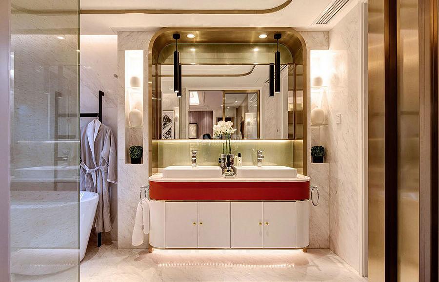 276㎡现代美式别墅之洗手台设计效果图
