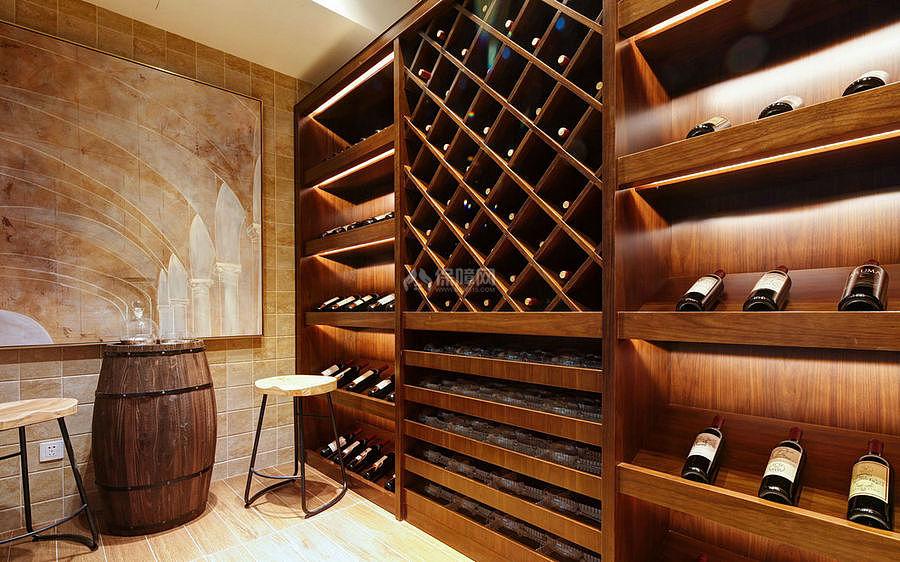 276㎡现代美式别墅之酒窖装修设计效果图