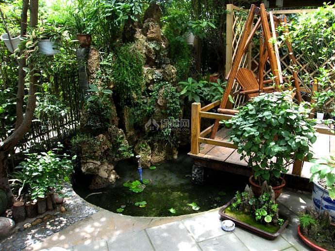 风水前后说法养鱼花园有别墅156别墅装修图片