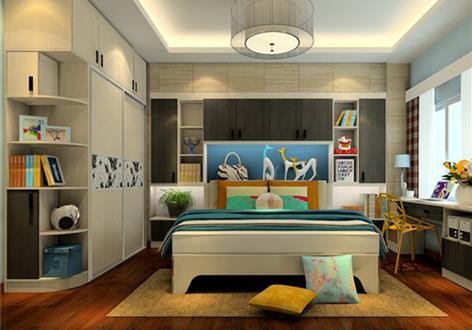 小户型卧室书柜装修效果图和结构功能图片